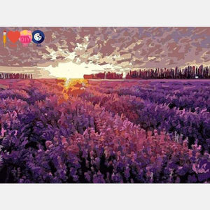 Purple Fields Paint by Numbers
