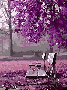 Purple Park Paint by Numbers