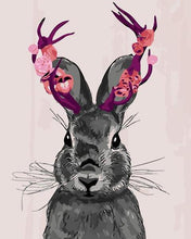 Load image into Gallery viewer, Rabbit with Fantasy Horns Paint by Numbers