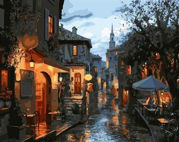Rainy Italy Paint by Numbers