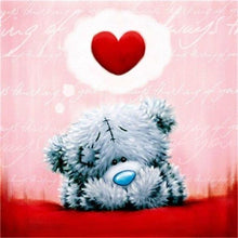 Load image into Gallery viewer, Red Heart & Teddy Paint by Diamonds