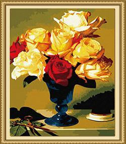 Red & Yellow Roses Paint by Numbers