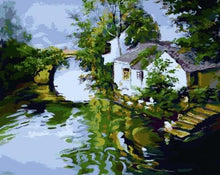 Load image into Gallery viewer, River House Paint by Numbers