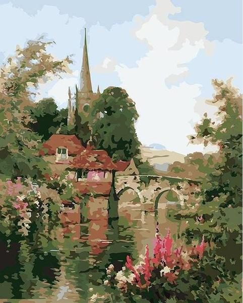 Riverside View Paint by Numbers