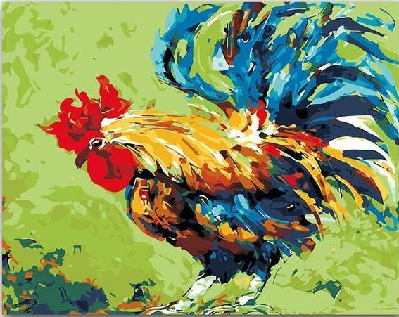 Rooster Paint by Numbers