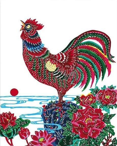 Rooster & Flowers Paint by Numbers