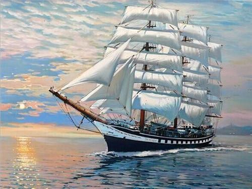 Sailing Ship Paint by Diamonds