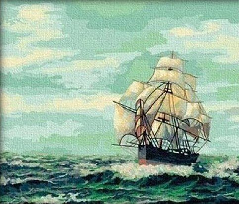 Sailing Ship Paint by Numbers