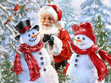 Load image into Gallery viewer, Santa & Snow Men Paint by Diamonds