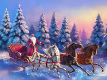 Load image into Gallery viewer, Santa on Christmas Ride Paint by Diamonds