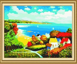 Sea View Scenery Paint by Numbers
