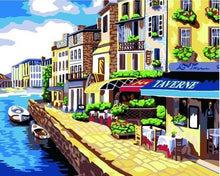 Load image into Gallery viewer, Sea View City Paint by Numbers