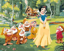 Load image into Gallery viewer, Snow White & Dwarfs Paint by Numbers