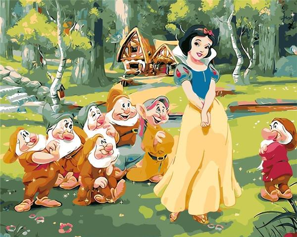 Snow White & Dwarfs Paint by Numbers