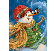 Load image into Gallery viewer, Snowman & Sparrows Paint by Diamonds