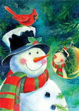 Load image into Gallery viewer, Snowman with Hat Paint by Diamonds