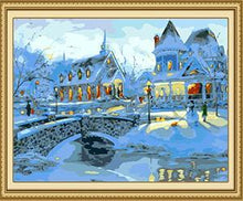 Load image into Gallery viewer, Snowy Houses Paint by Numbers