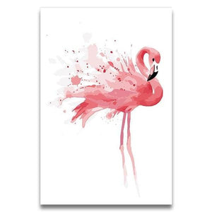 Splashing Flamingo Paint by Numbers