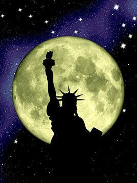 Statue of Liberty & Moon Paint by Numbers