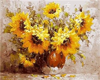 Striking Sunflowers Paint by Numbers