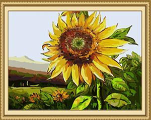 Sunflower Close up Paint by Numbers