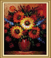 Load image into Gallery viewer, Sunflowers Paint by Numbers