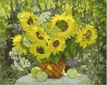 Load image into Gallery viewer, Sunflowers & Apples Paint by Numbers