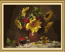 Load image into Gallery viewer, Sunflowers & Berries Paint by Numbers