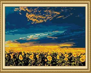 Sunflowers Crop Paint by Numbers