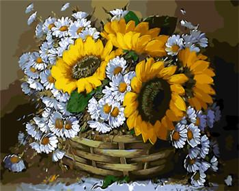 Sunflowers & Daisies Paint by Numbers
