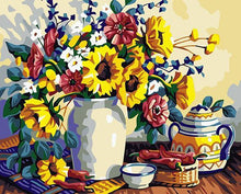 Load image into Gallery viewer, Sunflowers Still Life Paint by Numbers