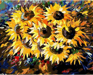Sunflowers Vase Paint by Numbers