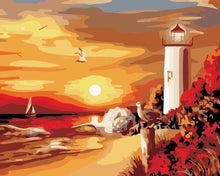 Load image into Gallery viewer, Sunset & Beach Paint by Numbers