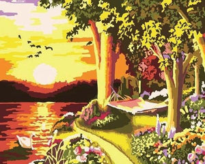 Sunset View Paint by Numbers
