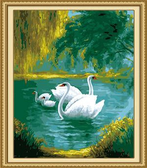 Swans Paint by Numbers