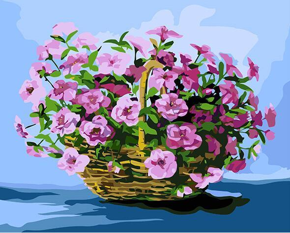 Sweet pea Basket Paint by Numbers