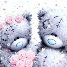 Load image into Gallery viewer, Teddies in Love Paint by Diamonds