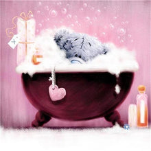 Load image into Gallery viewer, Teddy in Bath Tub Paint by Diamonds
