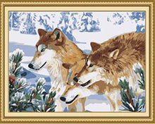 Load image into Gallery viewer, Three Wolves Paint by Numbers