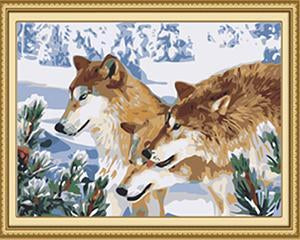 Three Wolves Paint by Numbers