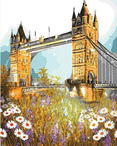 Tower Bridge & Flowers Paint by Numbers