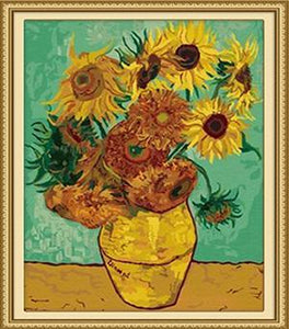 Van Gogh's Sunflowers Paint by Numbers