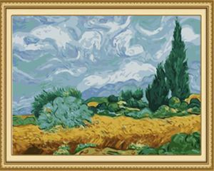 Van Gogh's Wheat Fields Paint by Numbers