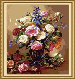 Vase of Roses Paint by Numbers