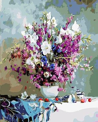 Vase of Sweet Pea Paint by Numbers