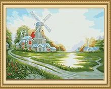 Load image into Gallery viewer, Windmill Landscape Paint by Numbers