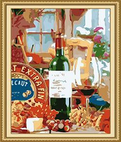 Wine Paint by Numbers