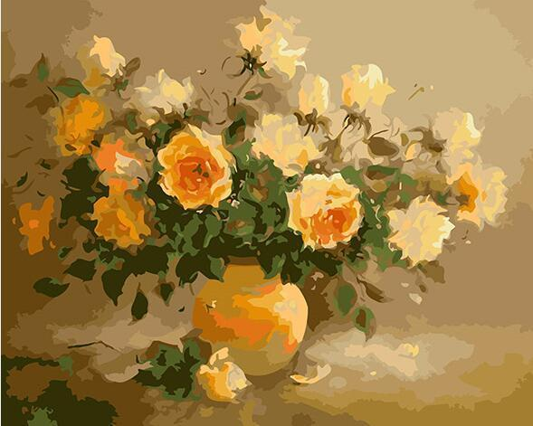 Yellow Flowers Paint by Numbers