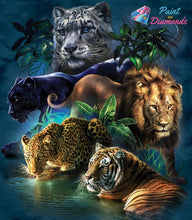 Load image into Gallery viewer, Big Cats Diamond Art