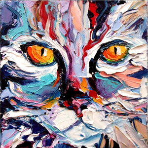 Huge Colorful Cat - Painting by numbers